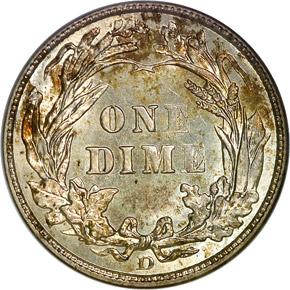 1912 D 10C MS reverse
