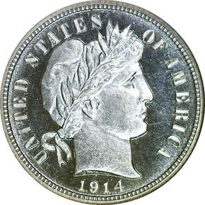 1914 10C PF obverse