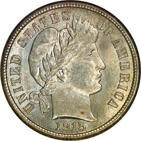 1915 10C MS obverse