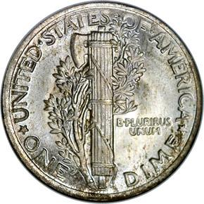 1921 10C MS reverse
