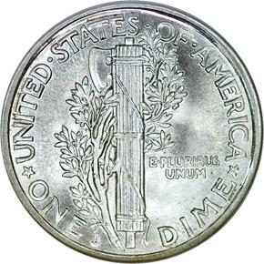 1921 D 10C MS reverse