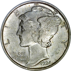 1924 10C MS obverse