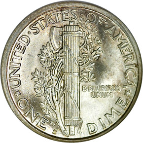 1924 S 10C MS reverse