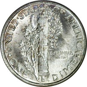 1925 S 10C MS reverse