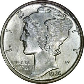 1926 D 10C MS obverse