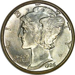 1926 S 10C MS obverse