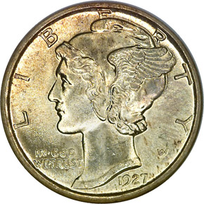1927 10C MS obverse