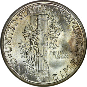 1931 10C MS reverse