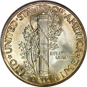 1938 S 10C MS reverse
