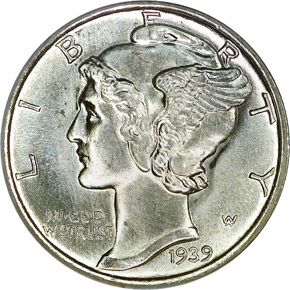 1939 S 10C MS obverse