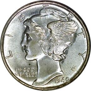 1940 S 10C MS obverse