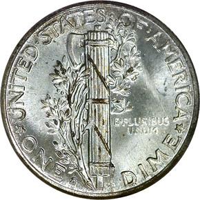 1940 S 10C MS reverse