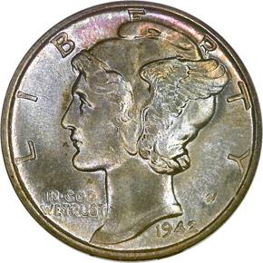 1942 10C MS obverse