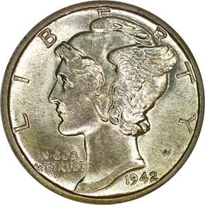 1942/41 D 10C MS obverse