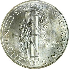 1945 S MICRO S 10C MS reverse