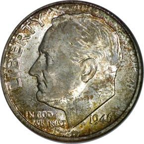 1946 S 10C MS obverse