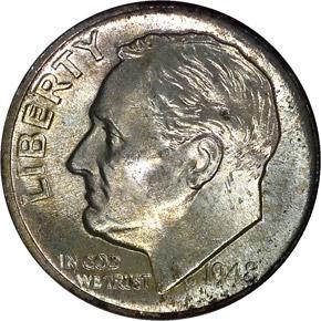 1948 D 10C MS obverse