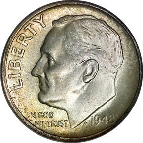 1948 S 10C MS obverse