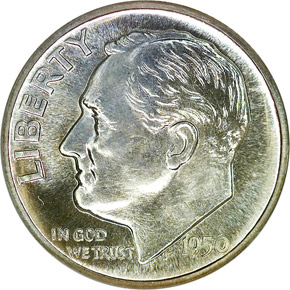 1950 10C PF obverse