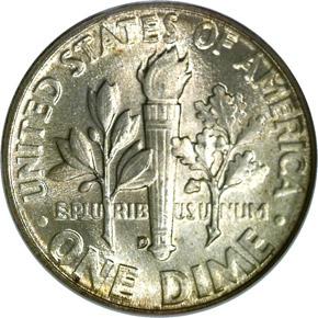 1950 D 10C MS reverse