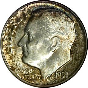 1951 10C MS obverse