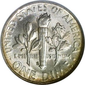 1952 S 10C MS reverse