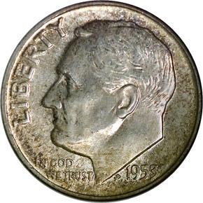 1953 10C MS obverse