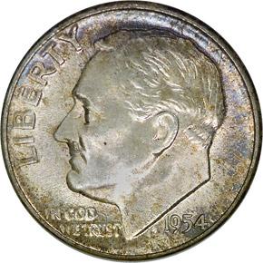 1954 10C MS obverse