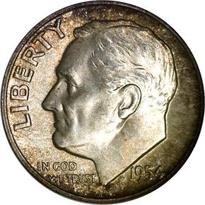 1954 S 10C MS obverse