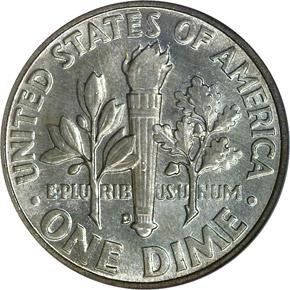 1955 D 10C MS reverse