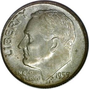 1955 S 10C MS obverse
