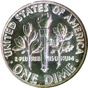 1956 10C PF reverse