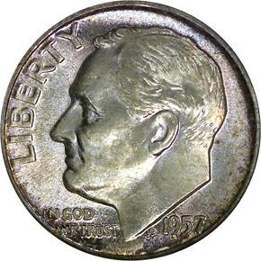 1957 10C MS obverse