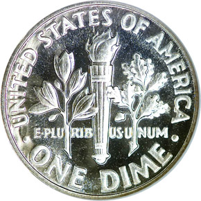 1957 10C PF reverse