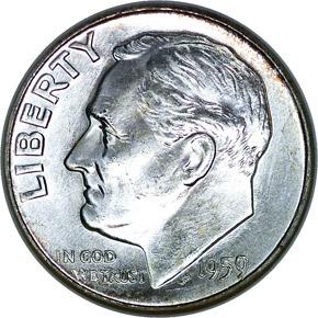 1959 10C MS obverse