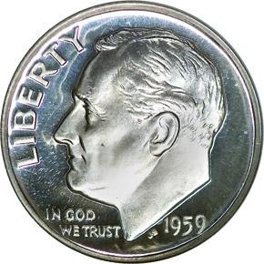1959 10C PF obverse