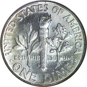 1962 D 10C MS reverse