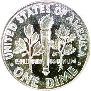 1964 10C PF reverse