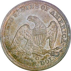 1844 O 25C MS reverse