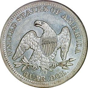 1851 O 25C MS reverse