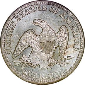 1852 O 25C MS reverse