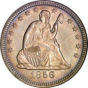 1856 O 25C MS obverse