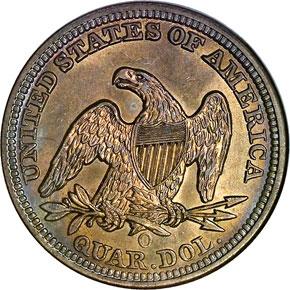 1856 O 25C MS reverse