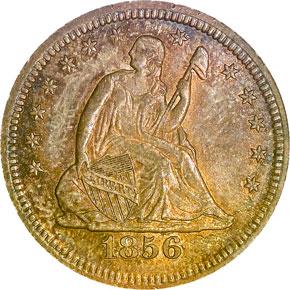 1856 S 25C MS obverse
