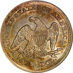 1857 S 25C MS reverse