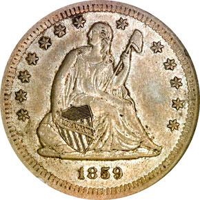 1859 S 25C MS obverse