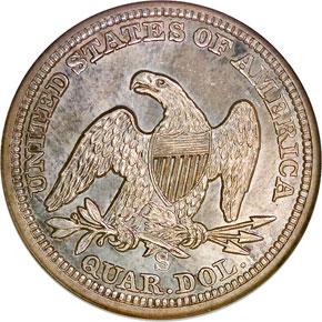 1864 S 25C MS reverse