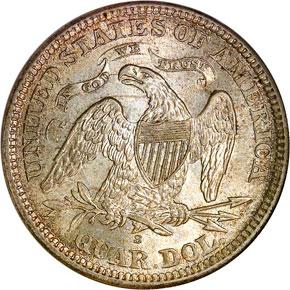 1868 S 25C MS reverse