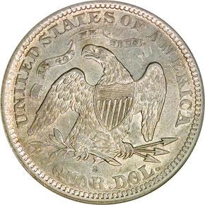 1869 S 25C MS reverse