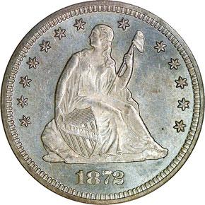 1872 25C MS obverse
